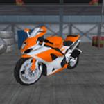 现代疯狂的绝技摩托车