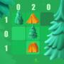 真正的帐篷和树