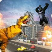 恐龙怪物入侵城市