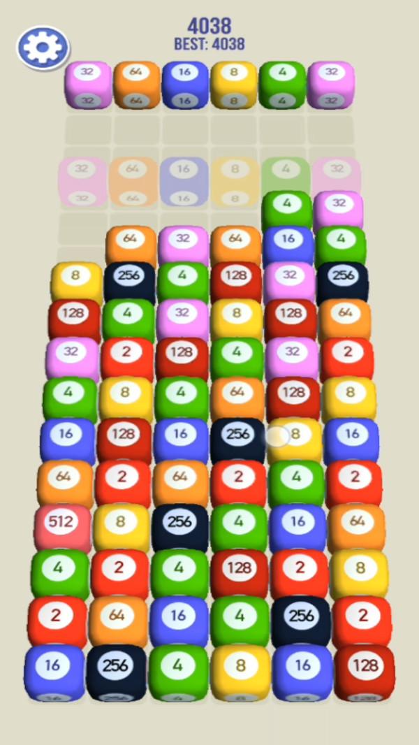 2048拼图3D截图