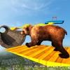 动物不可能的跟踪奔跑