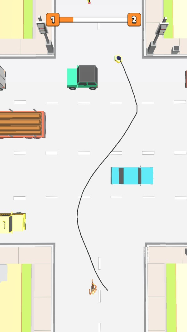画线过马路截图