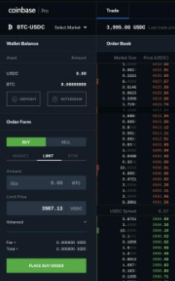 Coinbase交易所截图