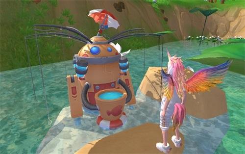 创造与魔法钓鱼机器人在什么地方